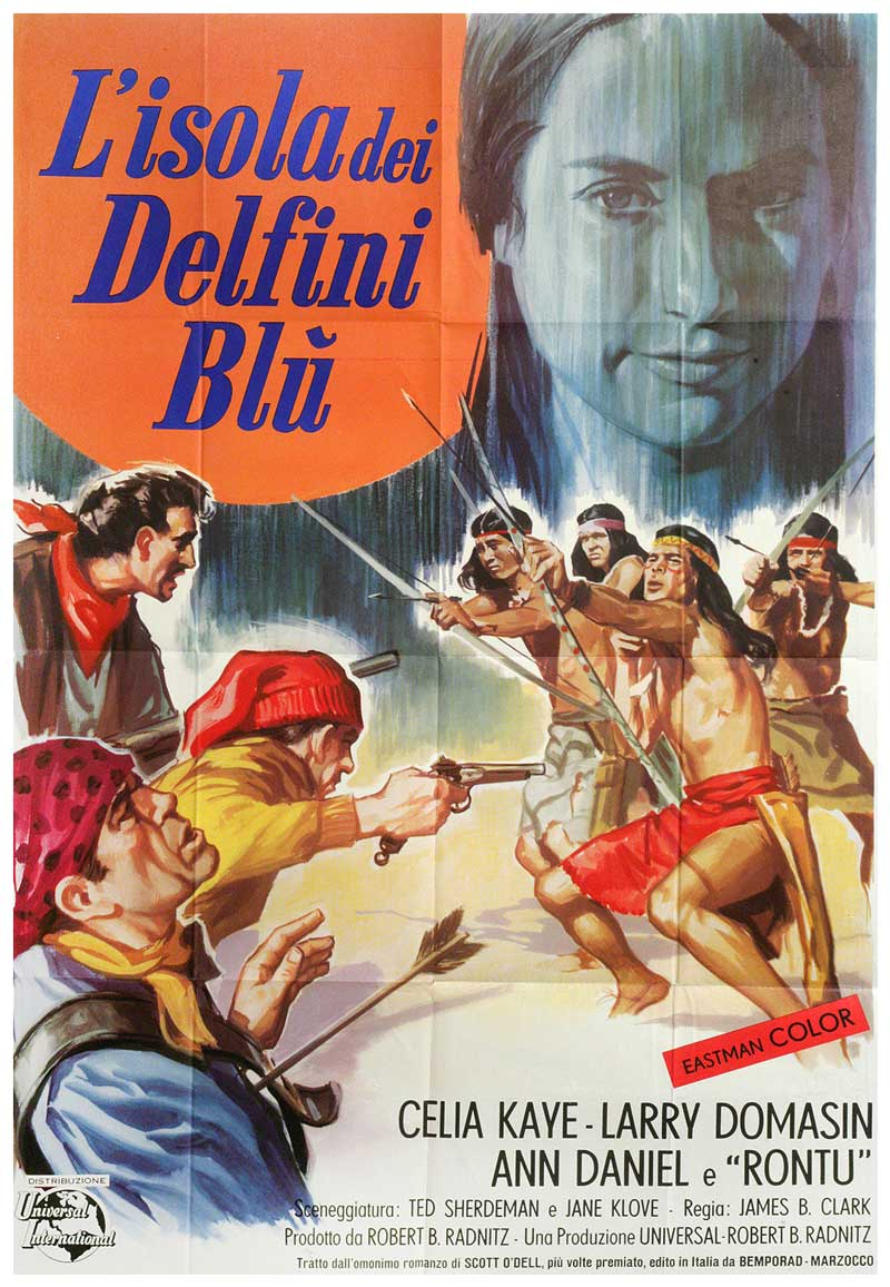 Island of the Blue Dolphins Italian Poster