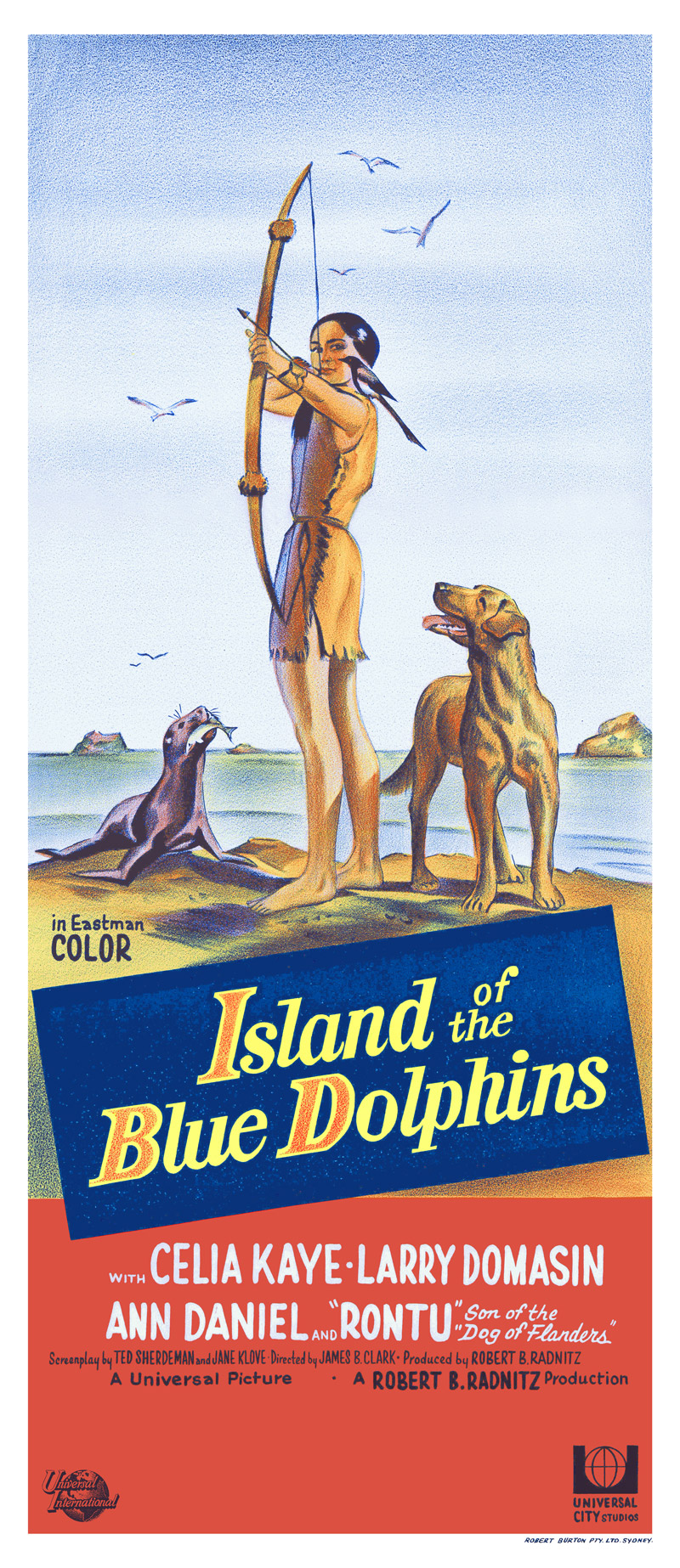 Island of the Blue Dolphins Australia Poster