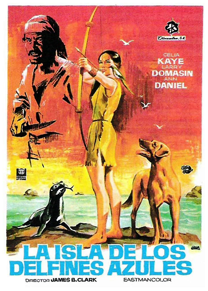 Island of the Blue Dolphins Spanish Poster