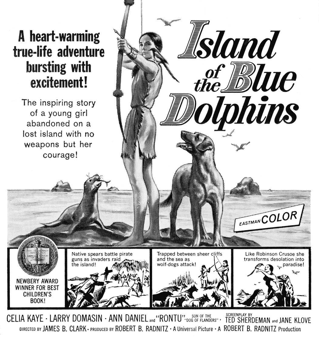 Island of the Blue Dolphins b&w ad